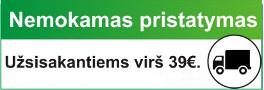 Nemokamas pristatymas perkant nuo 39 eurų