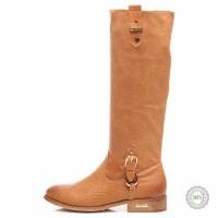 Smėlio spalvos ilgaauliai batai Julias