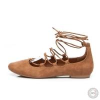 Smėlio spalvos balerinos Lily Shoes