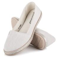 Smėlio spalvos balerinos Ideal Shoes