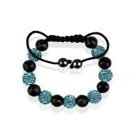 Teal Shamballa Bracelet Crystal-Disco Ball Friendship Bead