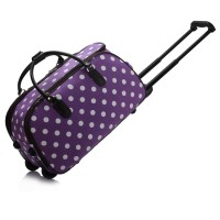 Purple Light Travel Holdall Trolley Luggage With Wheels - CABIN APPROVED