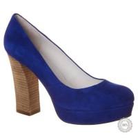 Mėlyni odiniai aukštakulniai bateliai Zign