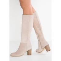 Smėlio spalvos odiniai ilgaauliai batai Lamica