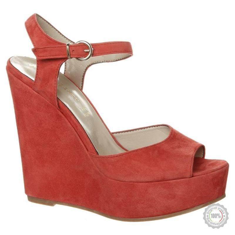 Raudonos odinės basutės Mai Piu Senza