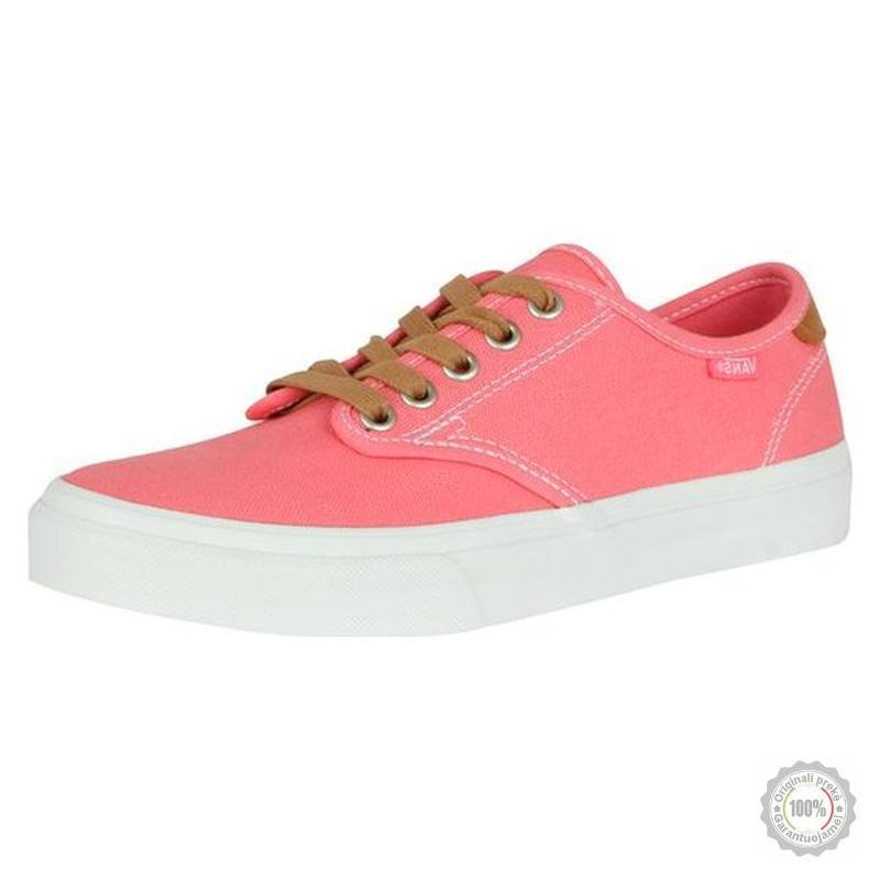Rožiniai riedlentininkų batai Vans Camden Canvas
