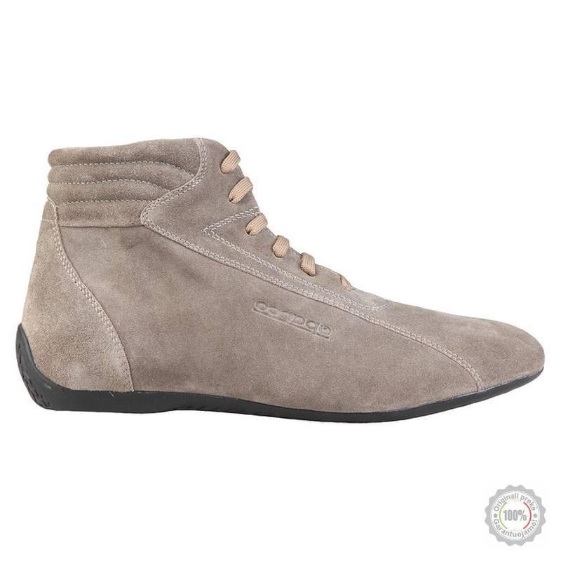 Smėlio spalvos odiniai sportiniai batai Sparco