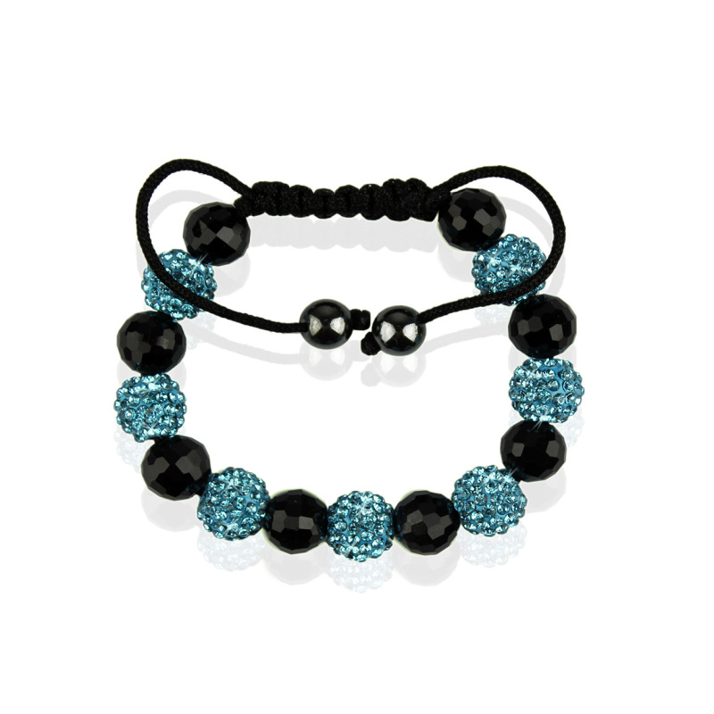 Teal Shamballa Bracelet Crystal-Disco Ball Friendship Bead