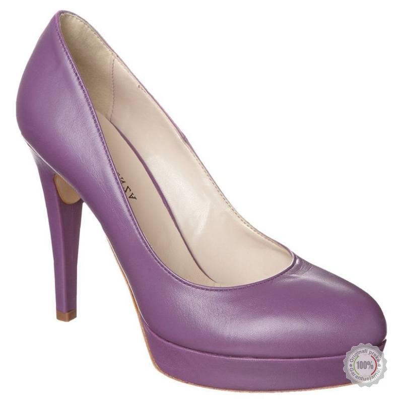 Violetiniai odiniai aukštakulniai bateliai Mai Piu Senza