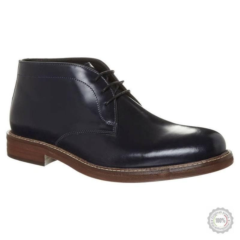 Mėlyni odiniai klasikiniai batai Zign