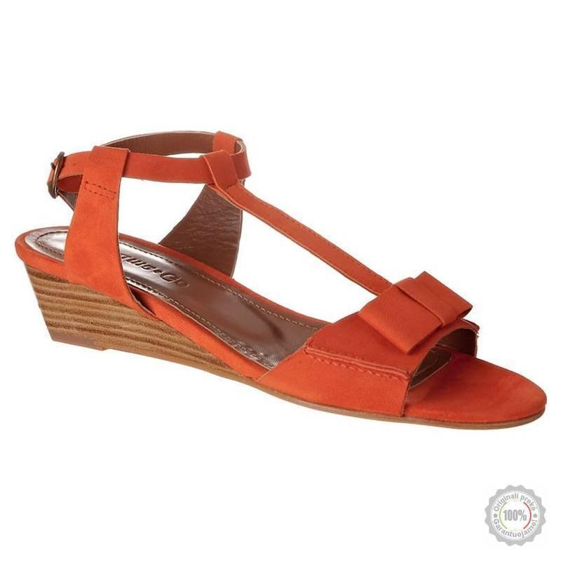Oranžinės odinės basutės Emma Go