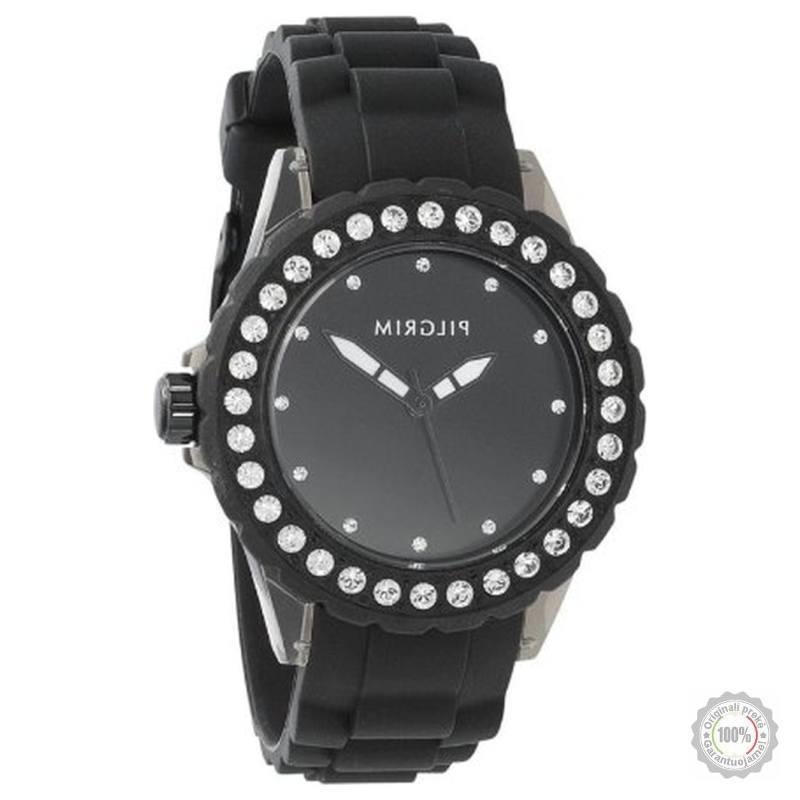 Juodas moteriškas laikrodis Pilgrim
