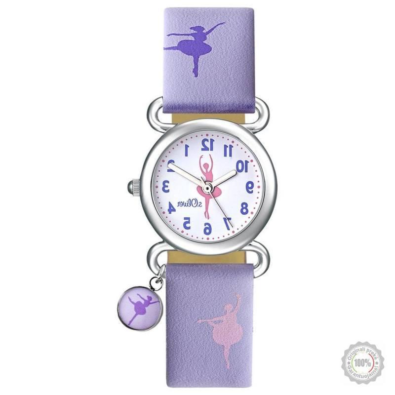 Violetinis vaikiškas laikrodis s.Oliver