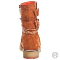 Oranžiniai odiniai aulinukai Zign #2