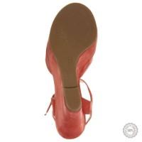 Raudonos odinės basutės Mai Piu Senza #3