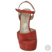 Raudonos odinės basutės Mai Piu Senza #4