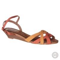 Oranžinės odinės basutės Pastelle