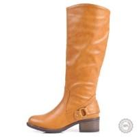 Smėlio spalvos ilgaauliai batai Alicia Shoes