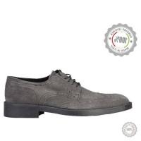 Pilki odiniai klasikiniai batai Vera Pelle