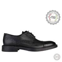 Juodi odiniai klasikiniai batai Vera Pelle