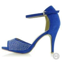 Mėlyni aukštakulniai bateliai
