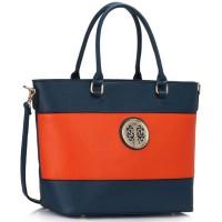 Mėlynai oranžinė rankinė