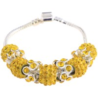 Lemonade Yellow Crystal Bracelet