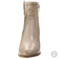 Smėlio spalvos odiniai aulinukai Maripé #4