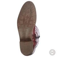 Bordo spalvos ilgaauliai batai Tamaris #4