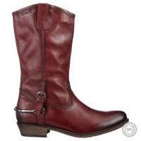 Bordo spalvos ilgaauliai batai Tamaris #5