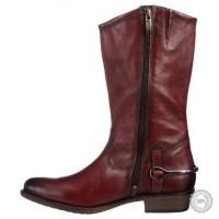 Bordo spalvos ilgaauliai batai Tamaris #6