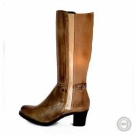Pilki odiniai ilgaauliai batai Kibei