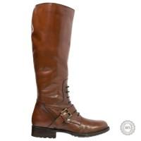 Tamsiai rudi odiniai ilgaauliai batai Pier One