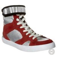 Raudoni odiniai laisvalaikio batai Zign