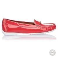 Raudoni odiniai mokasinai Gino Rossi