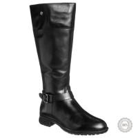 Juodi odiniai ilgaauliai batai Caprice