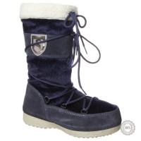 Mėlyni odiniai žieminiai batai Tamaris