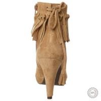 Smėlio spalvos odiniai aulinukai Taupage #2