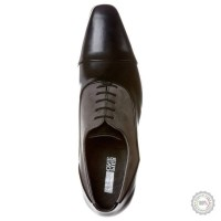 Juodi odiniai klasikiniai batai Pier One #7