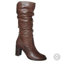 Rudi odiniai ilgaauliai batai Taupage