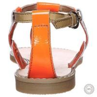 Oranžinės odinės basutės Zign #2