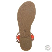 Oranžinės odinės basutės Zign #3