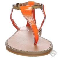 Oranžinės odinės basutės Zign #4