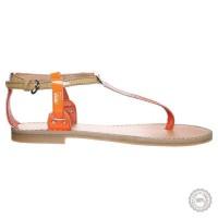 Oranžinės odinės basutės Zign #5