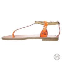 Oranžinės odinės basutės Zign #6