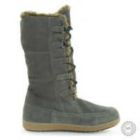 Pilki odiniai ilgaauliai batai su kailiu Tommy Hilfiger #3