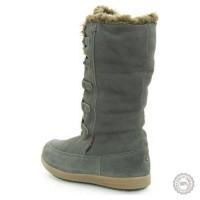 Pilki odiniai ilgaauliai batai su kailiu Tommy Hilfiger #4