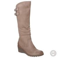 Smėlio spalvos odiniai ilgaauliai batai Caprice