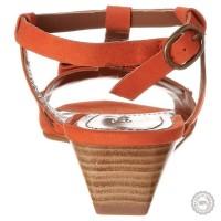 Oranžinės odinės basutės Emma Go #2