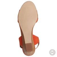 Oranžinės odinės basutės Emma Go #3